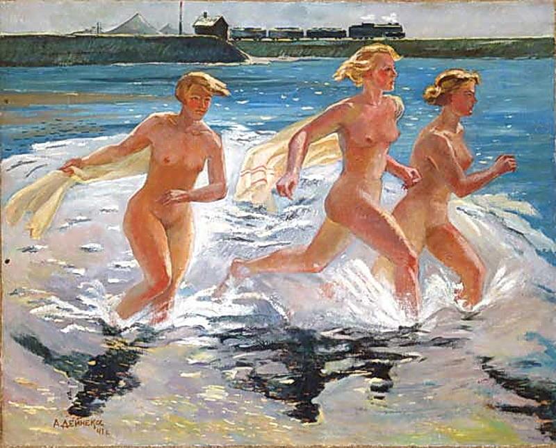 Aleksandr-Deyneka-Running-girl